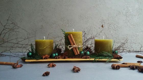 Композиция со свечами для Уютных и Теплых вечеров