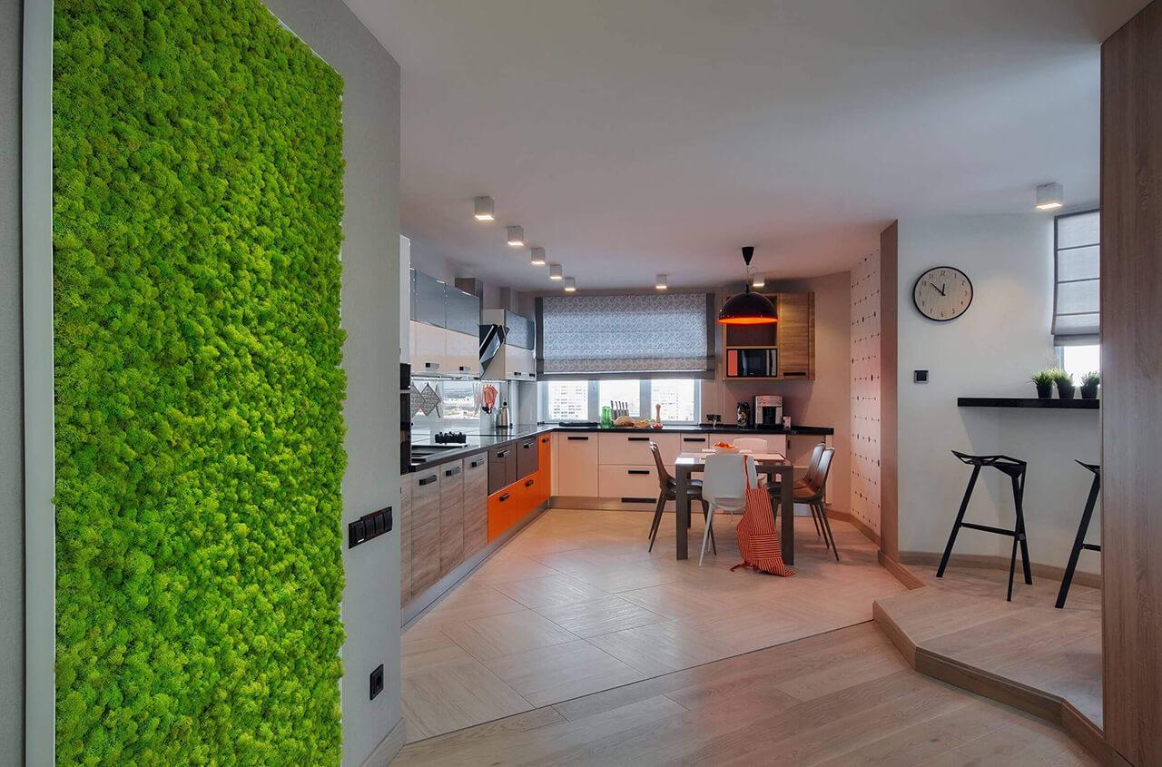 Реализован дизайн-проект озеленения видовой квартиры в г. Сумы