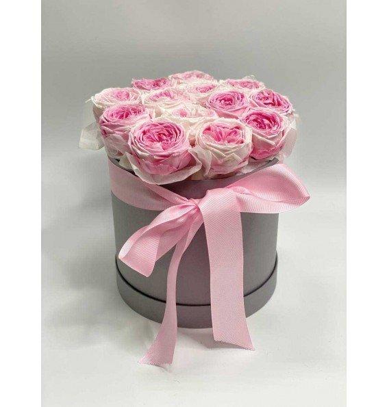 """Шляпная коробка """"Пионовидные розы"""""""