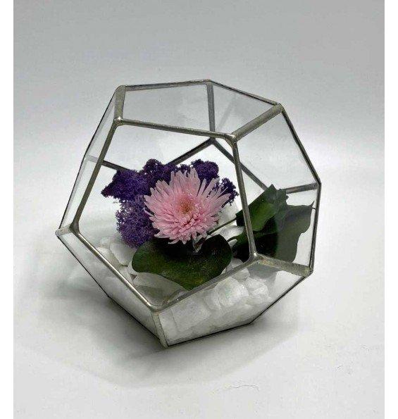 Флорариум с хризантемой