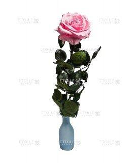 Роза на стебле премиум навал розовая