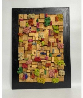 Панно из цветного мха (картина)