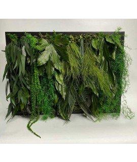 Картина из стабилизированной зелени