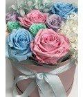 """Шляпная коробка """"Гортензия и розы"""" - Фото2"""