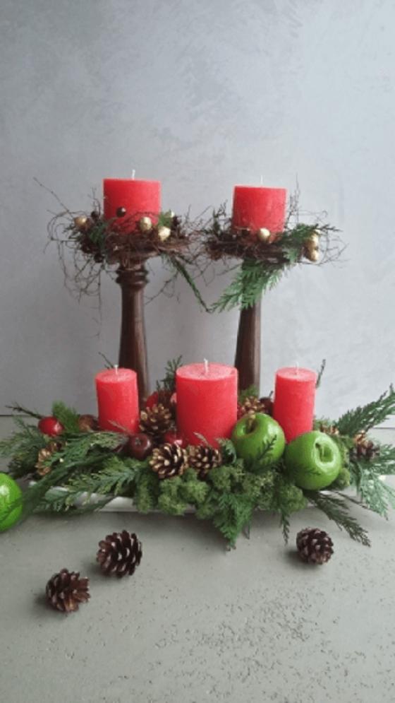Свечи и зелень