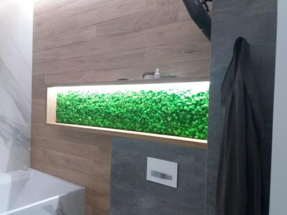 Полка в ванной из Ягеля