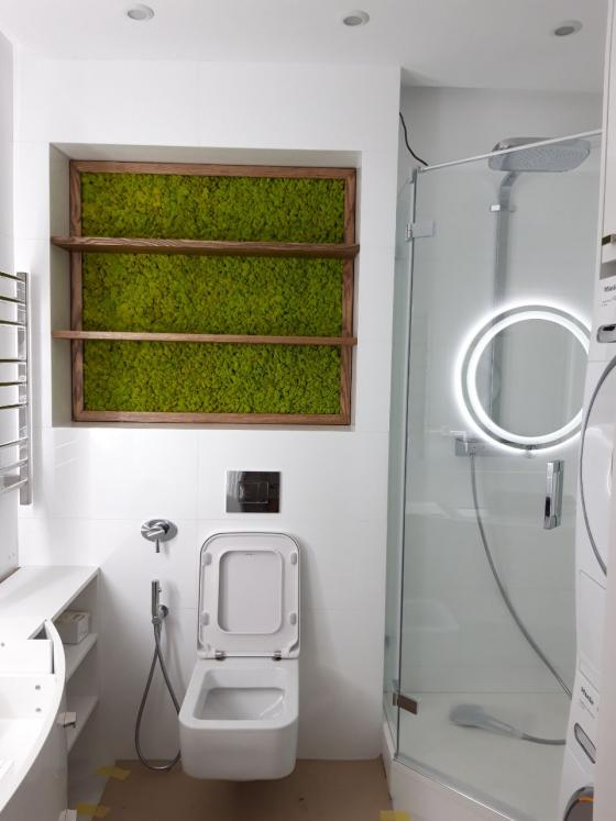 Ягель в ванной комнате