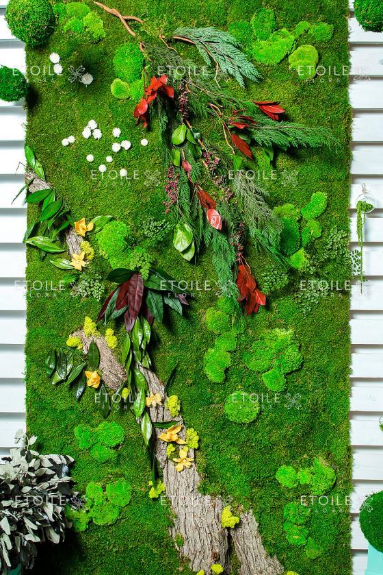 Живая стена из стабилизированных Растений без ухода и сохранит свою Свежесть до 10 лет!!!