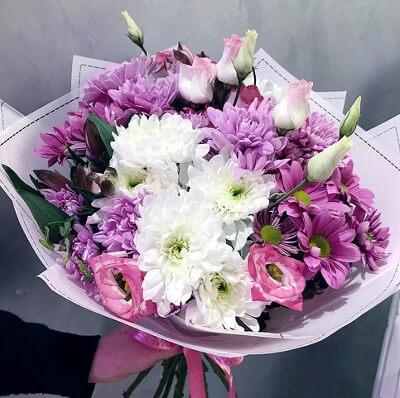 Букет хризантем: фото