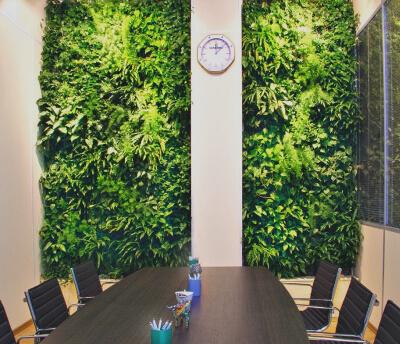 Фитодизайн в офисе: фото