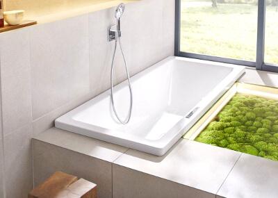 Озеленение ванной комнаты стабилизированным мхом