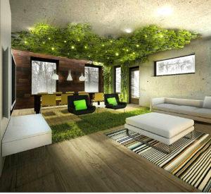 Как создается стабилизированный сад на потолке