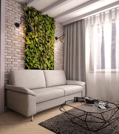 Стена из растений: фото