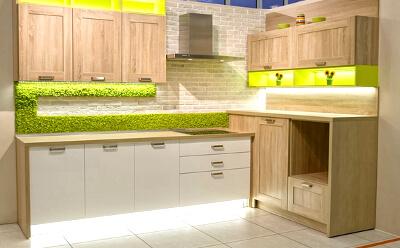 Фитодизайн кухни с использованием стабилизированного мха: фото