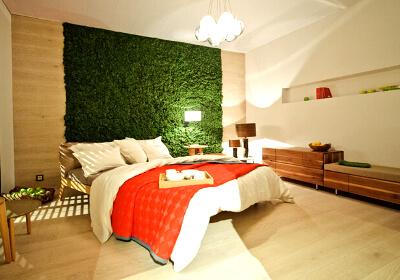 Вертикальное озеленение в спальне