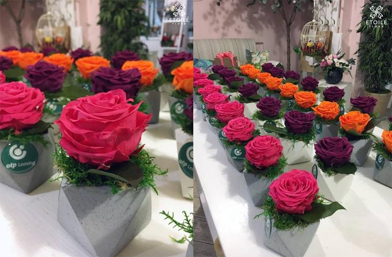 Подарок из стабилизированных цветов на 8 марта