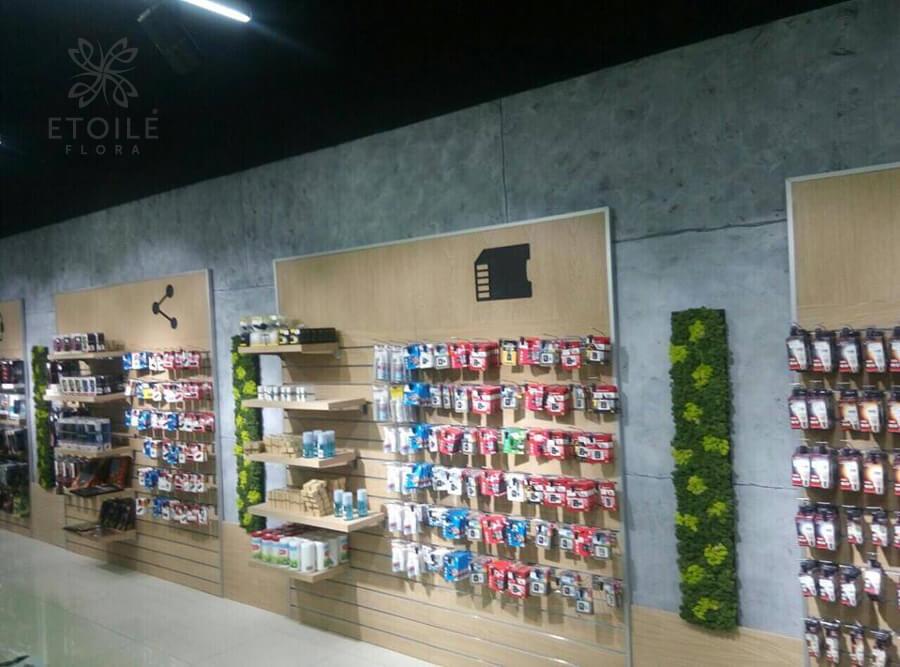 Озеленение магазина мхом