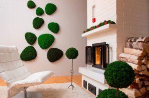 Экологичные и красивые стены из мха